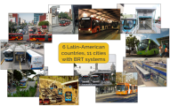 Photos of BRT systems of cities that participated in the activity