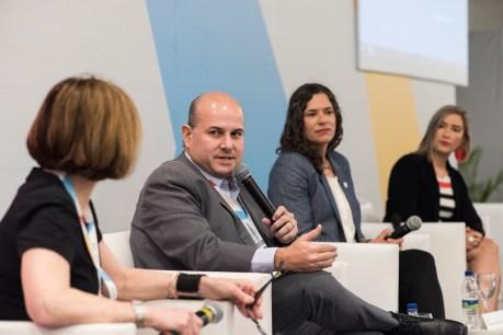 Roberto Claudio, Mayor of Fortaleza speaks during MOBILIZE panel