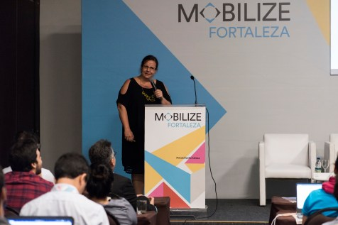 Skye Duncan, Director of National Association of City Transportation Officials discussed her organization's role in Fortaleza's interventions.