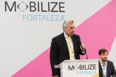 Jean Pejo, Brazil's National Secretary of Mobility and Urban Services at MOBILIZE podium