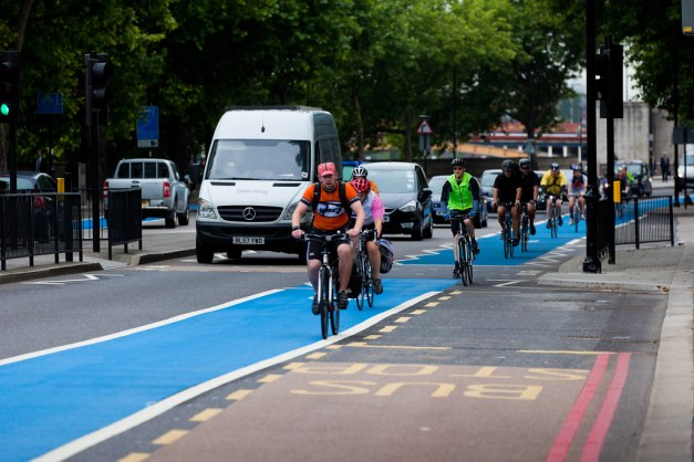 Cycling infrastructure has been a major investment by London, and today cycling makes up 2% mode share.