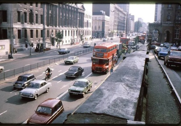 Double decker buses have been a mainstay in London transportation both for transportation, shown here, but also tourism.