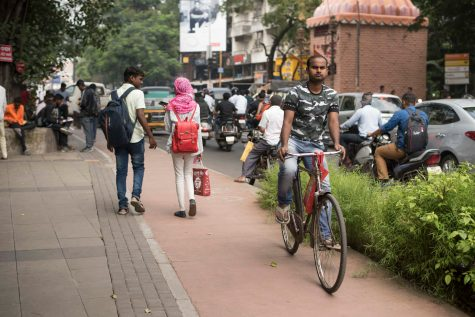 Cycling is part of Pune's broad strategy to increase non-motorized transport.