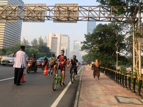 Grassroots efforts, like the human barrier show the popularity and importance of cycling.