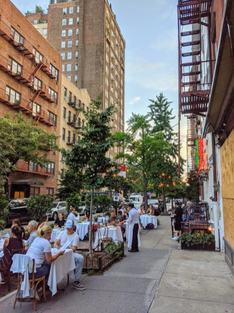 Restaurants have had to rely on sidewalks for outdoor dining as many city's streets remain open to car traffic.