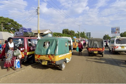 Public transport services are provided by privately operated matatus and tuk tuks, without service quality or labour standards.