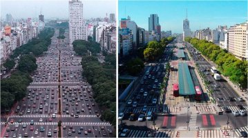 One of the most dramatic road transformations took place in Buenos Aires, Argentina, on the Avenida 9 de Julio, which in 2013 was transformed from a multilane highway into a major public transit corridor.