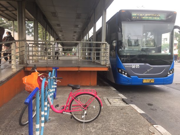 In Jakarta, Indonesia, the Transjakarta bus system has built station integrations with bikeshare systems.