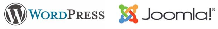 wordpress-joomla-logos