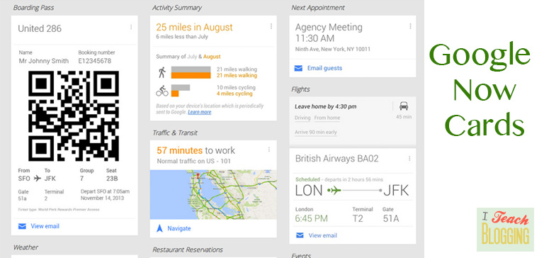 What a Google Now card looks like