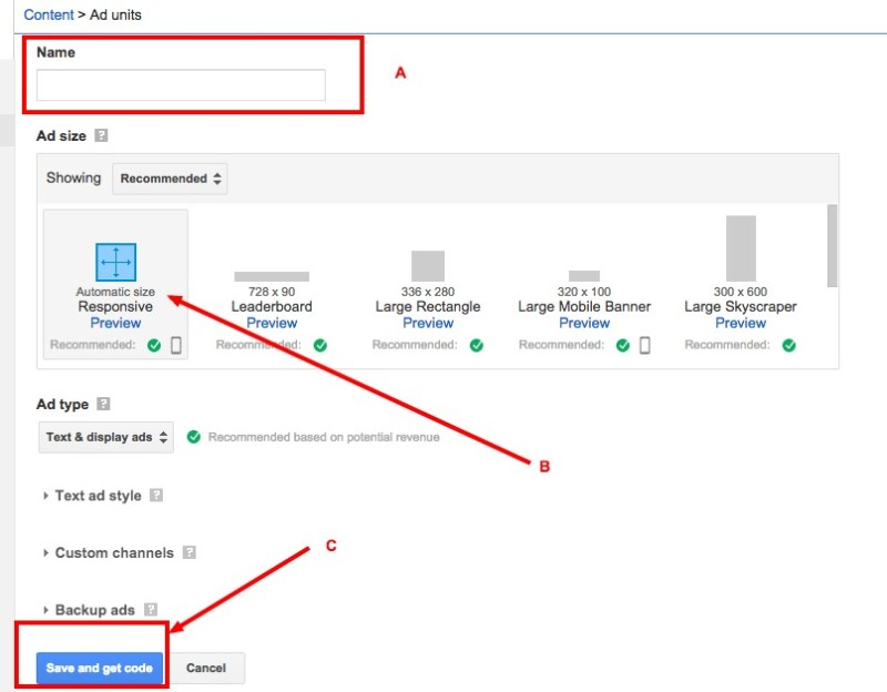 how to set up google adsense