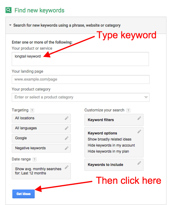 tips on using the Adwords tool