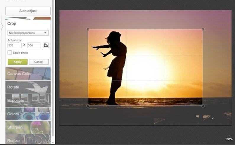 Use PIcmonkey to resize an image