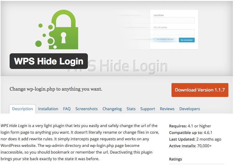 WordPress WPS Hide Login