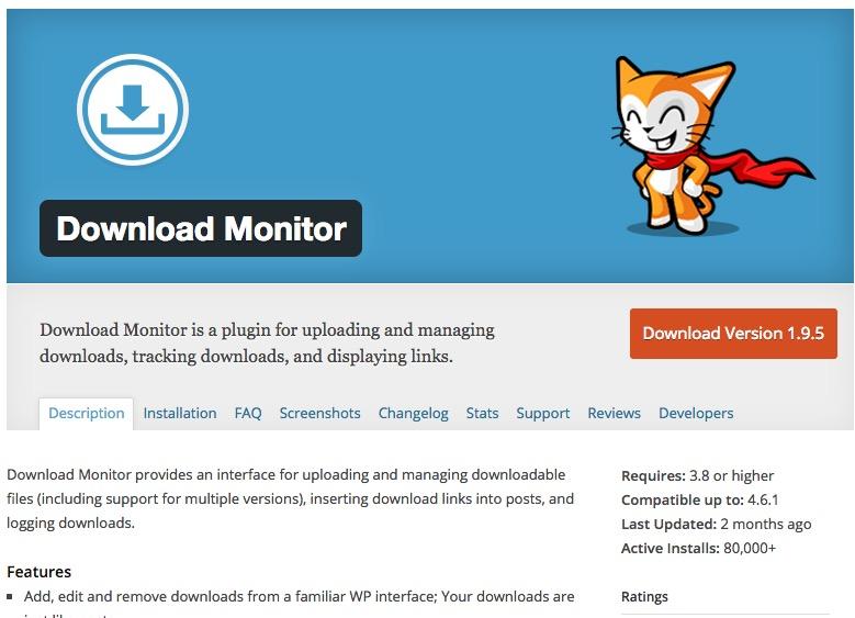 WordPress Plugin managing downloads