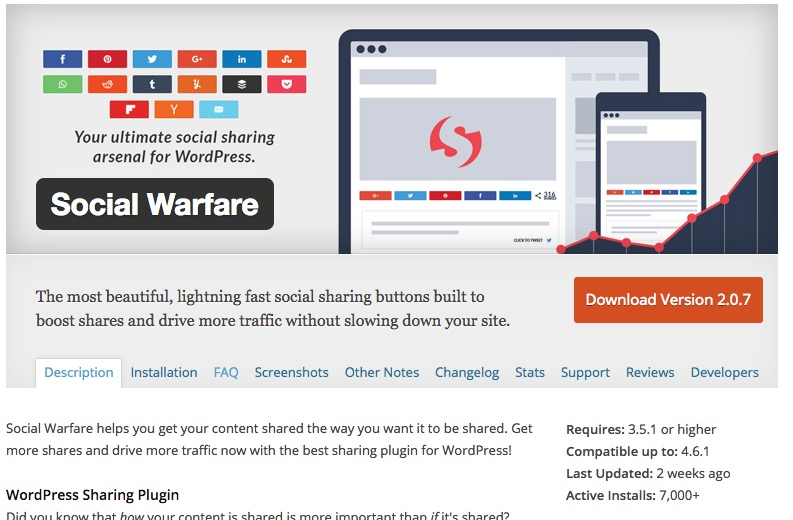WordPress Social Media Buttons