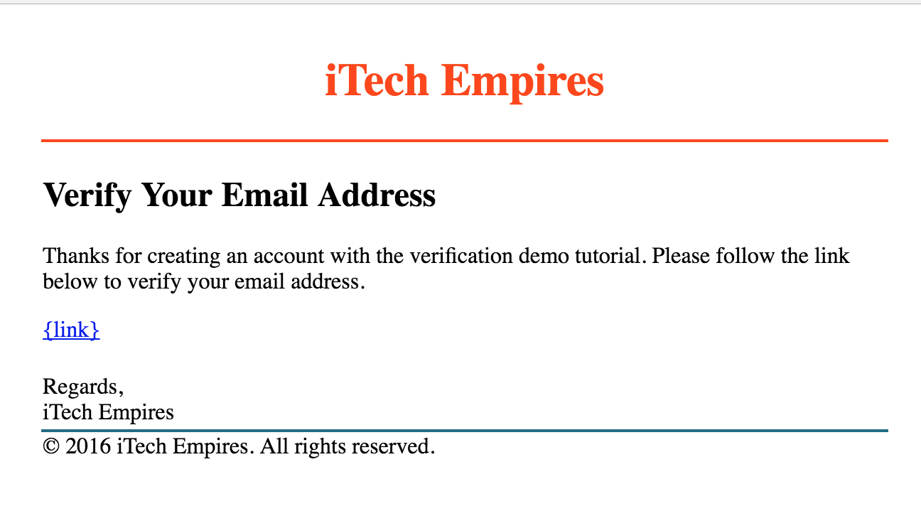 html email - Verify Email Address Php