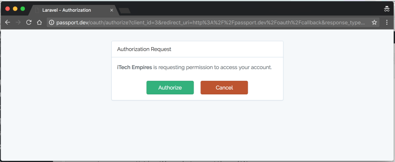 Authorization Request Confirmation