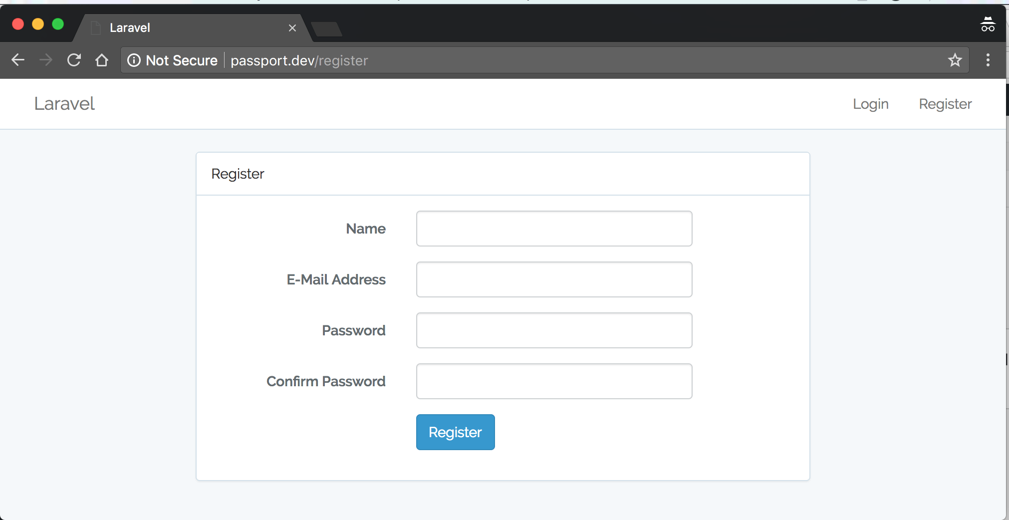Laravel 5 5 API User Authentication with Passport Package