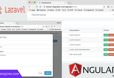 Laravel 5.5 AngularJS CRUD Operations Application