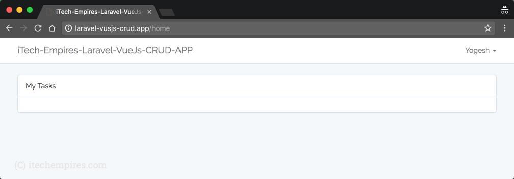 Laravel 5 5 VueJs 2 0 CRUD Operations Application – iTech Empires