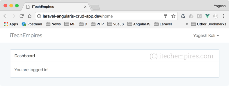 Laravel 5 5 AngularJS CRUD Operations Application ← Laravel