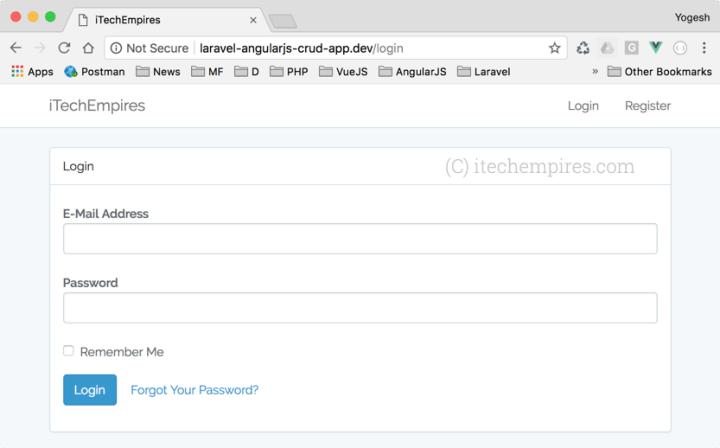 User Authentication Login Screen