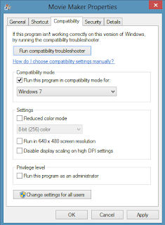 run program in compatibility mode