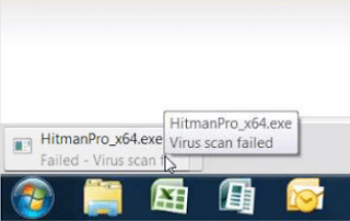 Virus Scan Failed Error