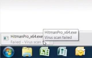 Virus Scan Failed Error
