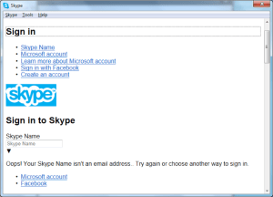 Skype Login Screen Messed up