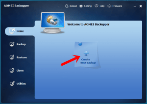 How to Create Complete System Backup using AOMEI Backupper