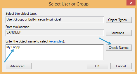 select user in windows