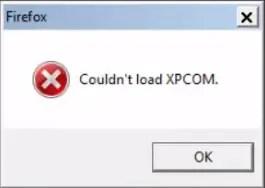 couldn't load xpcom