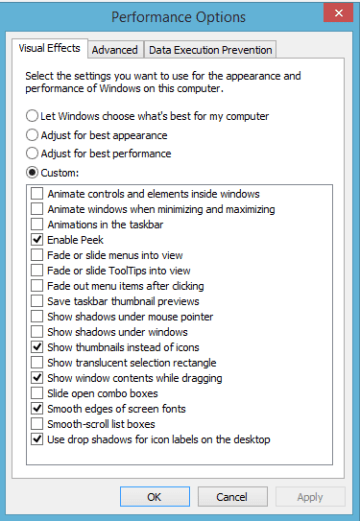 windows 8 8.1 performance