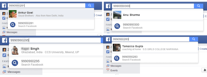 reverse phone lookup on facebook