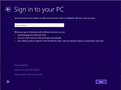 login with microsoft account windows 8