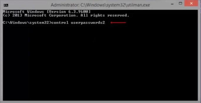 windows 8 password recover