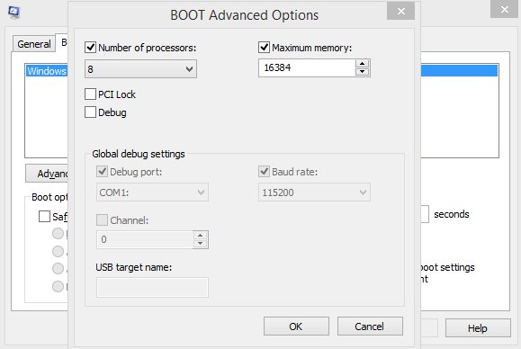 advanced boot option