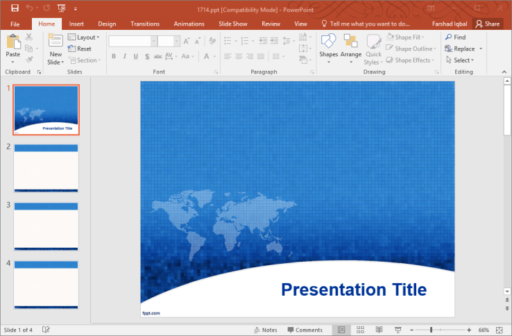 5 best powerpoint templates for free download to create stunning ppts blue global powerpoint template toneelgroepblik Images