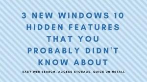 windows 10 features, new windows 10