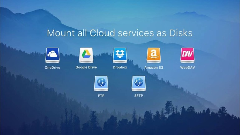 CloudMounter, local disk, remote servers, cloud storage services