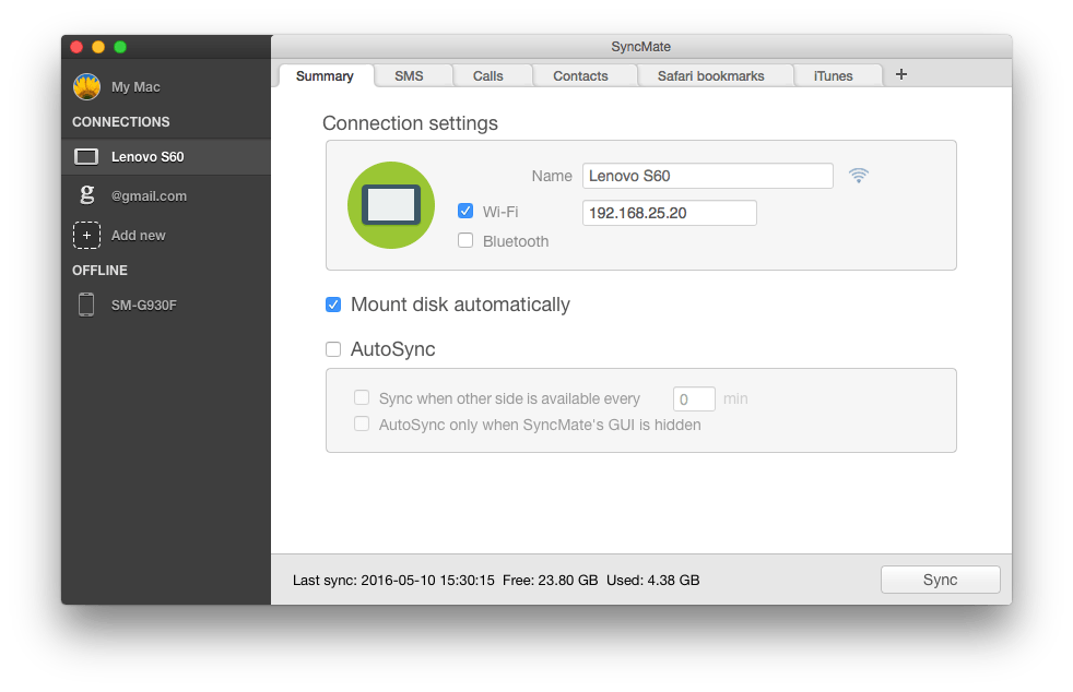 syncmate, syncmate for android, Android file transfer alternative for Mac