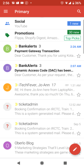 android email app gmail