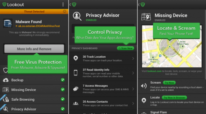 lookout android antivirus