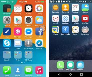 iphone launchers, best iphone launchers for android