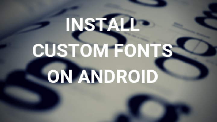 how to install font in android
