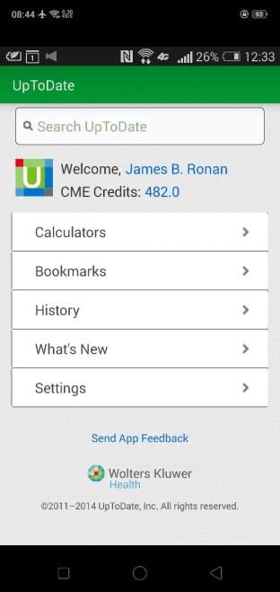 uptodate medical app for doctors