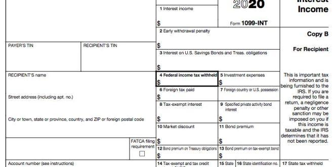 [TAX]세금보고 1099 Form과 종류