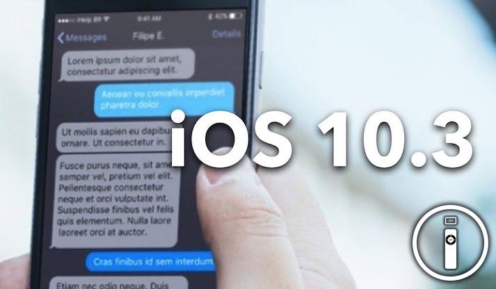 iOS 10.3 potrebbe essere rilasciato il 27 Marzo